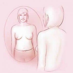 معاینه سینه در آینه