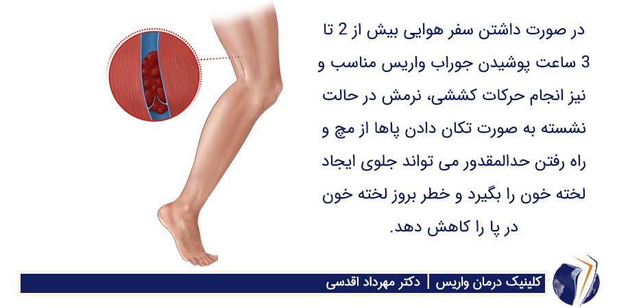 خطر بروز لخته خون